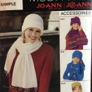 SIMPLICITY 5920 0630  Fleece Accessories Hats Scarves Sewing Pattern