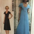 70s Flutter Sleeve Maxi Dress Pattern Simplicity 7836 Scoop Neck Size 16 Sewing Pattern