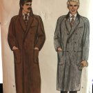 Vogue 7467 1970s Men's Classic Coat Sewing Pattern Size 42 Double Breasted