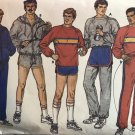 Butterick 6893 sewing pattern Size chest 34-40 athletic sweat pants sweatshirt track top hoodie
