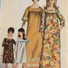 Simplicity 6792 Misses Women's Muu-Muu Size small 10 12 from 1970's Sewing Pattern