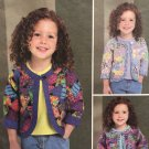 Butterick 4055 Just Jennifer Patchwork Jacket for Girls, size 4, 5, 6 Sewing Pattern