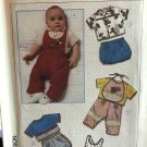 Simplicity 7356 Boys and Girls Pants Overalls Bloomers Sunsuit Bib Shorts Shirt size 12 mo