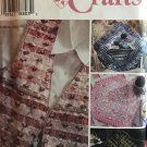 Simplicity 7074 Sewing Pattern Misses' Vest and Place Mat, Pillow, Purse and Eyeglasses Case