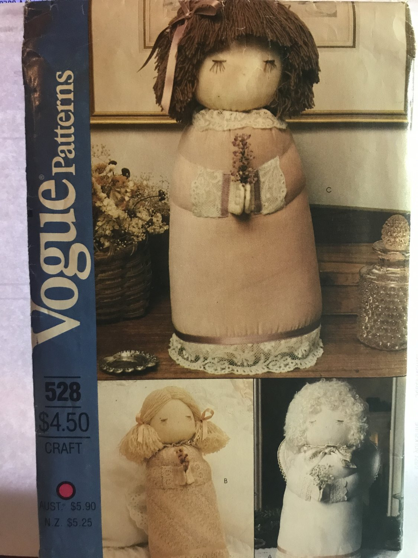Vogue 8288 528 Stuffed Decorative Doll Angel, Girl Sewing Pattern