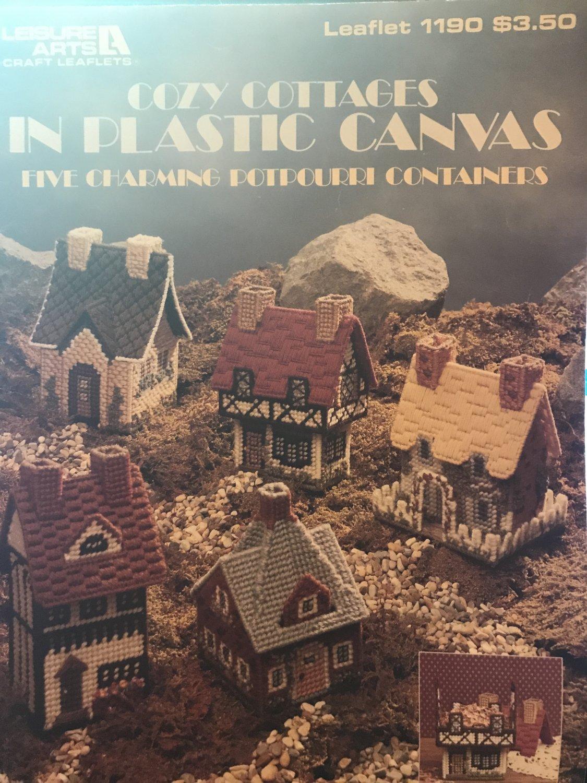 Cozy Cottages Plastic Canvas Pattern Leisure Arts 1190