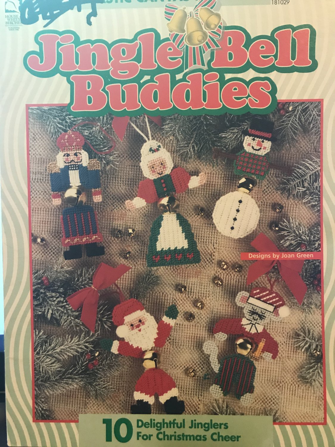 Jingle Bell Buddies Plastic Canvas Pattern 10 Designs House of White Birches 181029