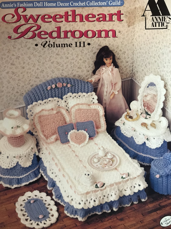 Sweetheart Bedroom Volume III Annie 's Attic Crochet Fashion Doll Furniture Pattern Booklet 528b
