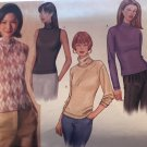 Butterick 3199 Turtleneck sleeveless or long sleeve pullover top Sewing pattern size 8 10 12