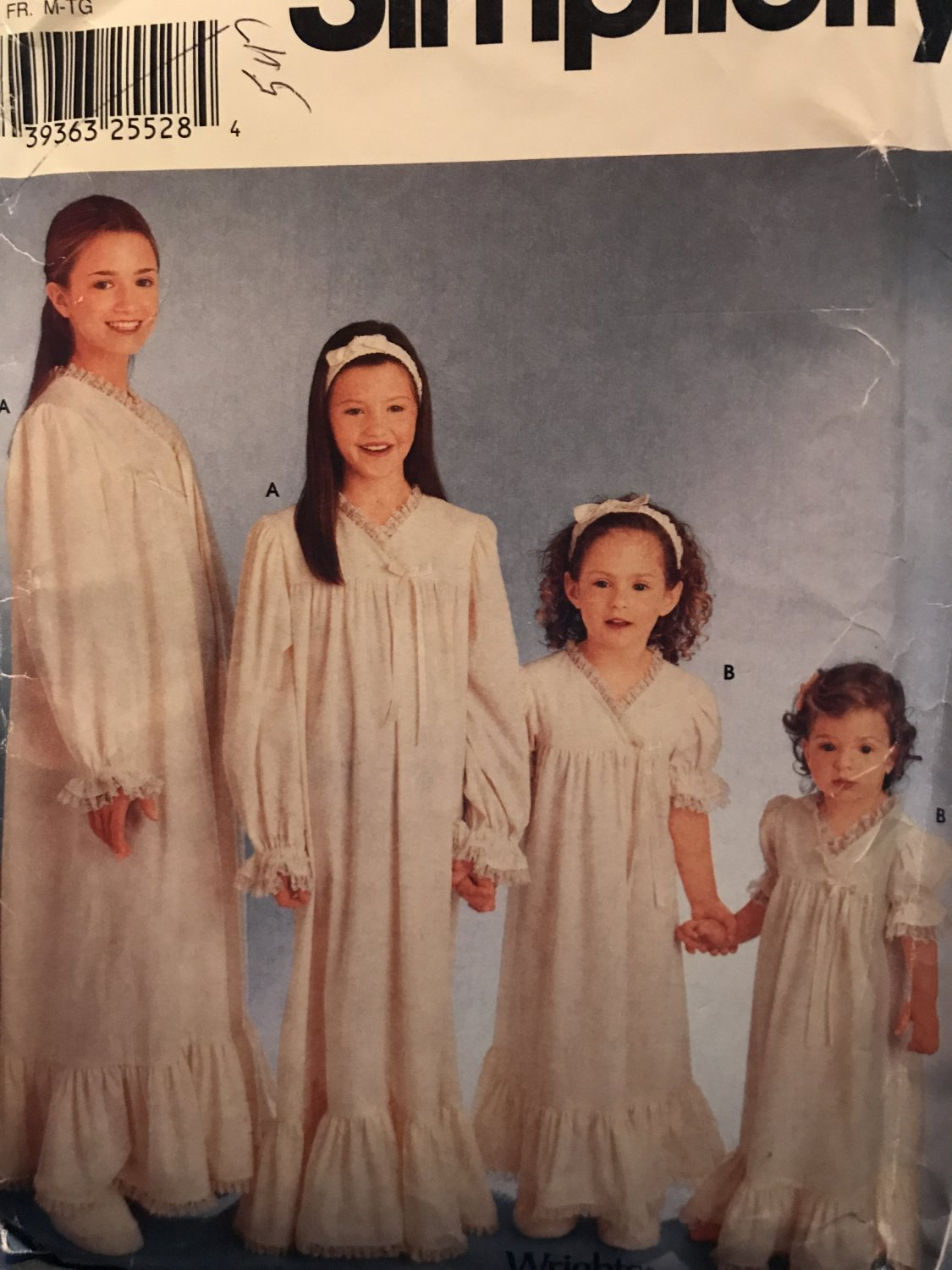 Simplicity 0659 9942 Girls Nightgown and Headband Sewing Pattern Size 7 - 16