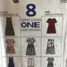 McCall's 7723 Sewing Pattern Girl's Dress Jumpsuit and Romper, 8 Great Looks Sizes 4 5 6
