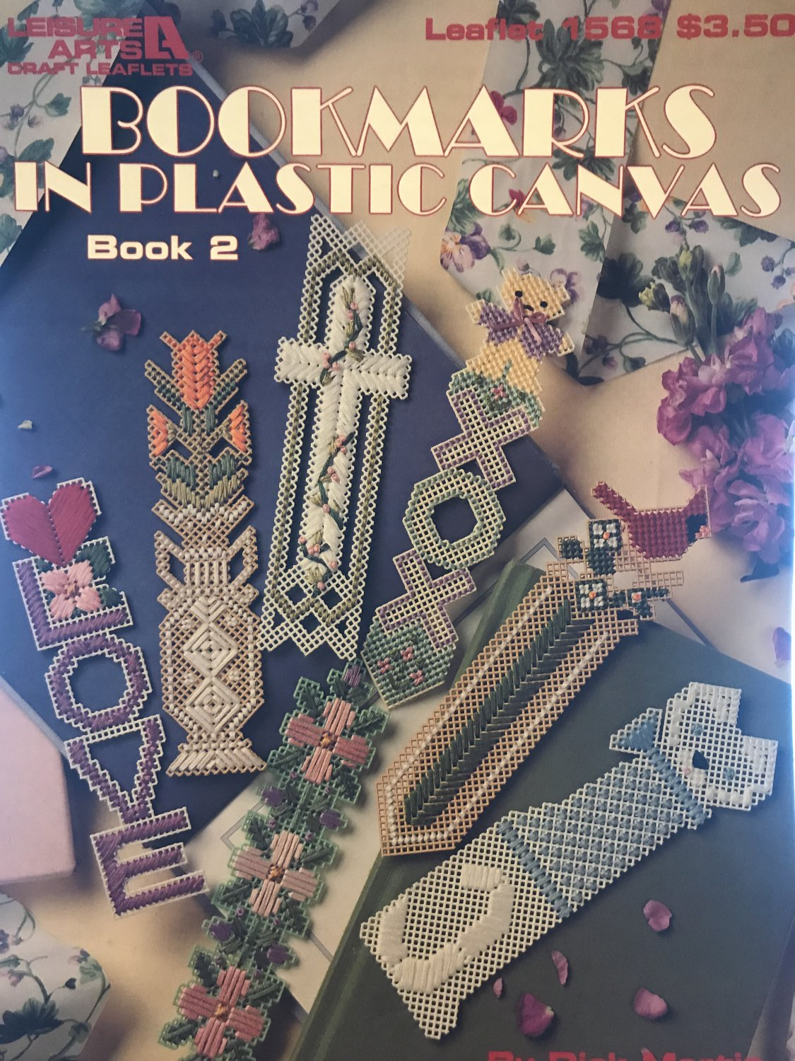 BOOKMARKS in PLASTIC CANVAS book 2 Leisure Arts Pattern 1568