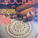Decorative Crochet Magazine No. 8, March 1989 Home Decor Coasters Curtains, Doilies Tablecloth