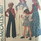 McCall's 4857 Children's and Girls' Overalls, Jumper and Blouse Sewing Pattern Size 10
