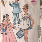 McCall's 2189 Size 6 Nightgown PJs Shortie BABY DOLLS with Transfer Sewing Pattern