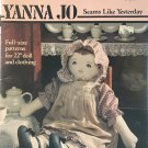 """Yanna Jo Doll and her Clothing 22"""" Sewing Pattern Leaflet Leisure Arts #1267"""