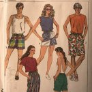 Simplicity 7501 Men's, Misses, Teen Boys Jams in Three Lengths Shorts Sewing Pattern Size Med.