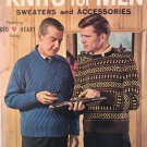 Coats Clark knitting book Knits for Men Book 134 Classic vintage patterns from 1962