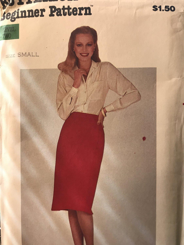 """BUTTERICK 3374 Misses Wrap Skirt Beginner Sewing Pattern uncut size SM Waist 24"""" - 25"""""""
