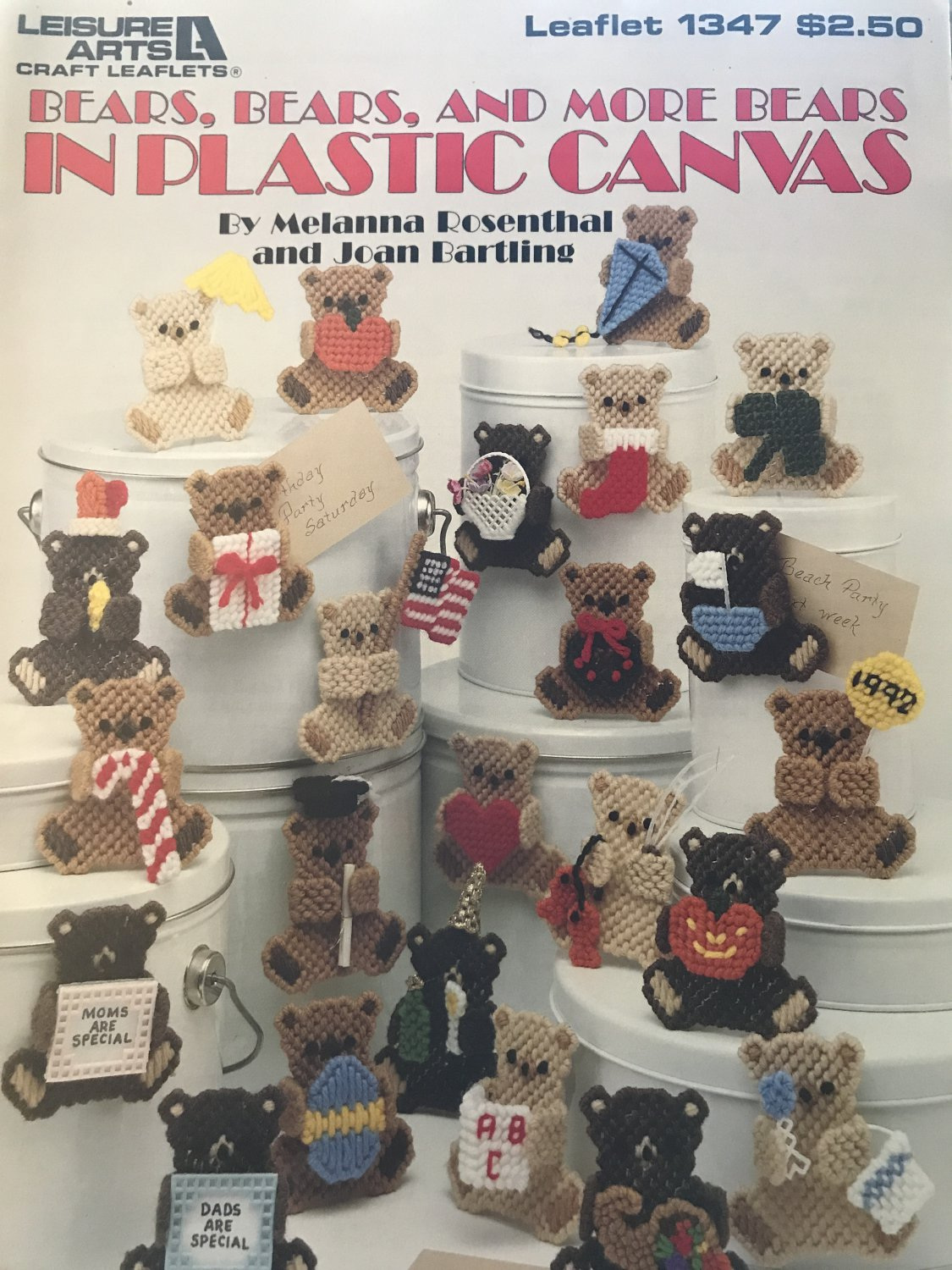 Bears, Bears and More Bears in Plastic Canvas Leisure Arts Leaflet 1347