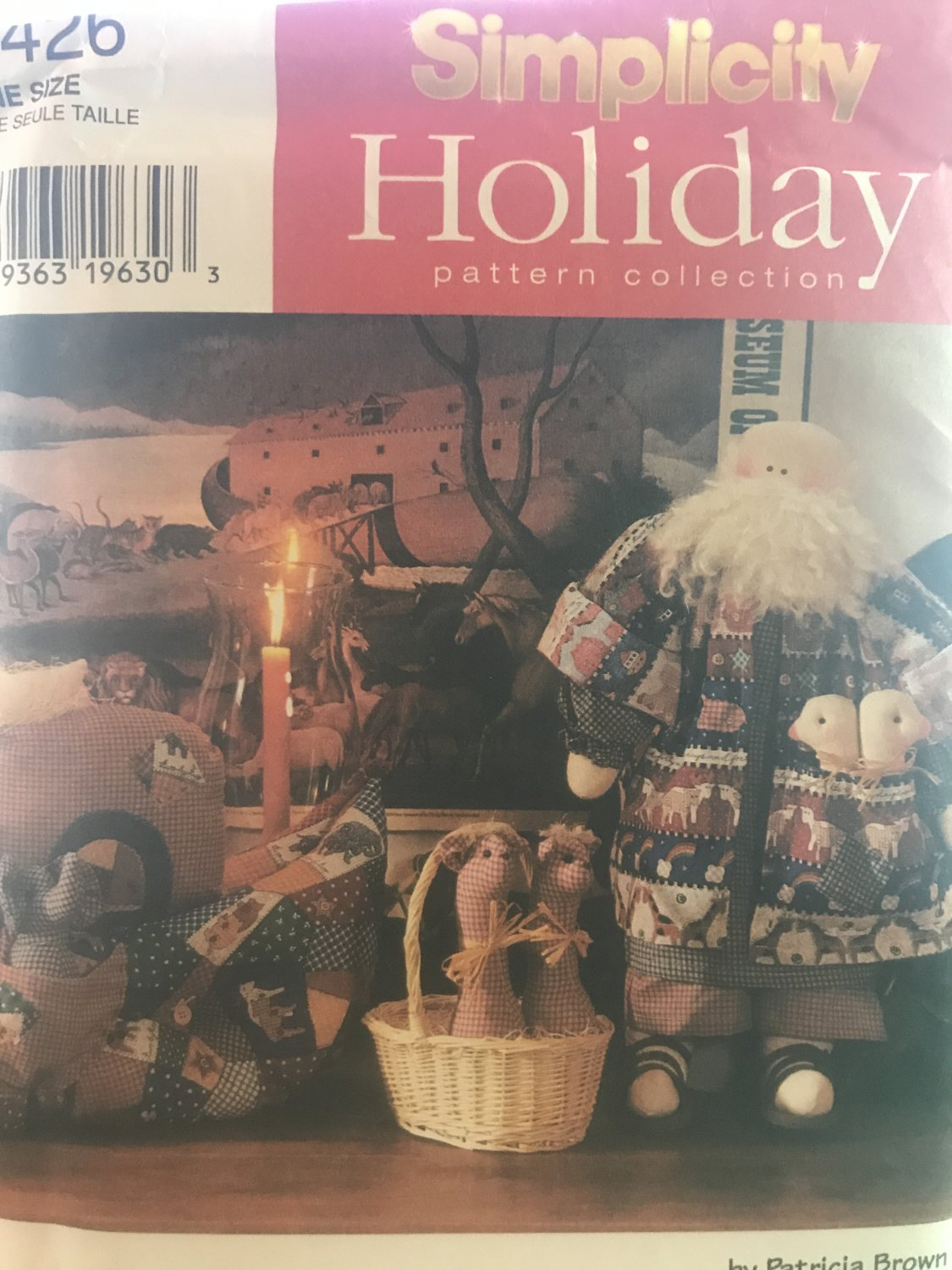 """Simplicity 7426 Noah Doll, 23"""" plus clothing and accessories Sewing Pattern"""