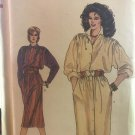 Vogue 8619 Misses Front Buttoned Shirt Dress Sewing Pattern Size 14 16 18