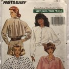 Butterick 3029 Misses' Loose-fitting Raglan Sleeves Shirt Sewing Pattern size 12 14 16