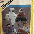 "Simplicity 6191 Set of Decorative Craft Dolls 21"" Artist Cowboy Cook Kitchen  Witch  UNCUT"