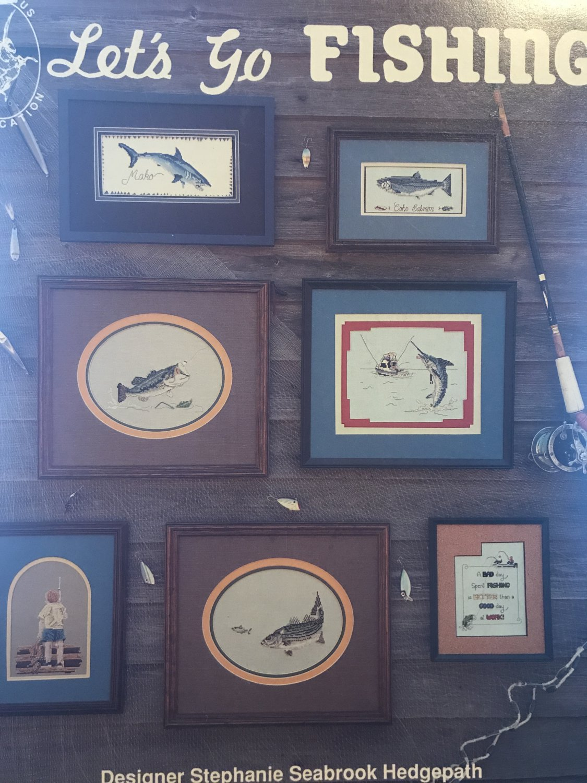 Let's Go Fishing Cross Stitch Pattern Pegasus Publications book 136