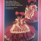 Peppermint Candy Pillow Doll or Bed Doll Crochet Pattern Fibre Craft FCM162