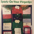 Reba's Creations Sports on your Fingertip Towels Cross Stitch Charts Booklet no. 17