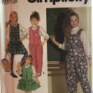 Simplicity 7461 Blouse w Standing Collar, Jumper & Jumpsuit Sewing Pattern Size 7-14