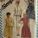 Simplicity 6297 Misses dropped waist dress with sleeve variations Sewing Pattern size 12 14 16