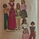 Simplicity 7279 Girls' Skirts Pants with Detachable Ruffle Bib Sewing Pattern size 8