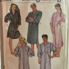 Vintage 80's Simplicity 7818 LOOSE NIGHTSHIRT Sewing Pattern Women Men Size XL Chest 42 - 44