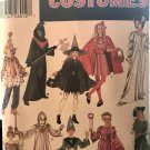 Children's Halloween Costumes Pattern Simplicity 5934 Pirate Witch Clown Fairy Size S M L