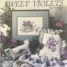 Leisure Arts Cross Stitch leaflet 2059 Sweet Violets by Paula Vaughan