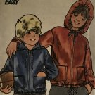 Butterick 3923 Child's Hoodie, Hooded Jacket with Pockets, front zipper Sewing Pattern Size 10