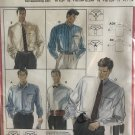 """Burda 5319 Mens' Shirt sewing pattern with collar variations sizes 37"""" to 44"""""""