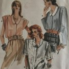 Vogue 9916 Misses Loose-fitting Front Buttoned Shirt  Sewing Pattern Size 14 16 18