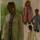 Butterick Sewing Pattern 4075 B4075 Misses  Button Front Long Sleeve Tunics Tops Size 20 22 24