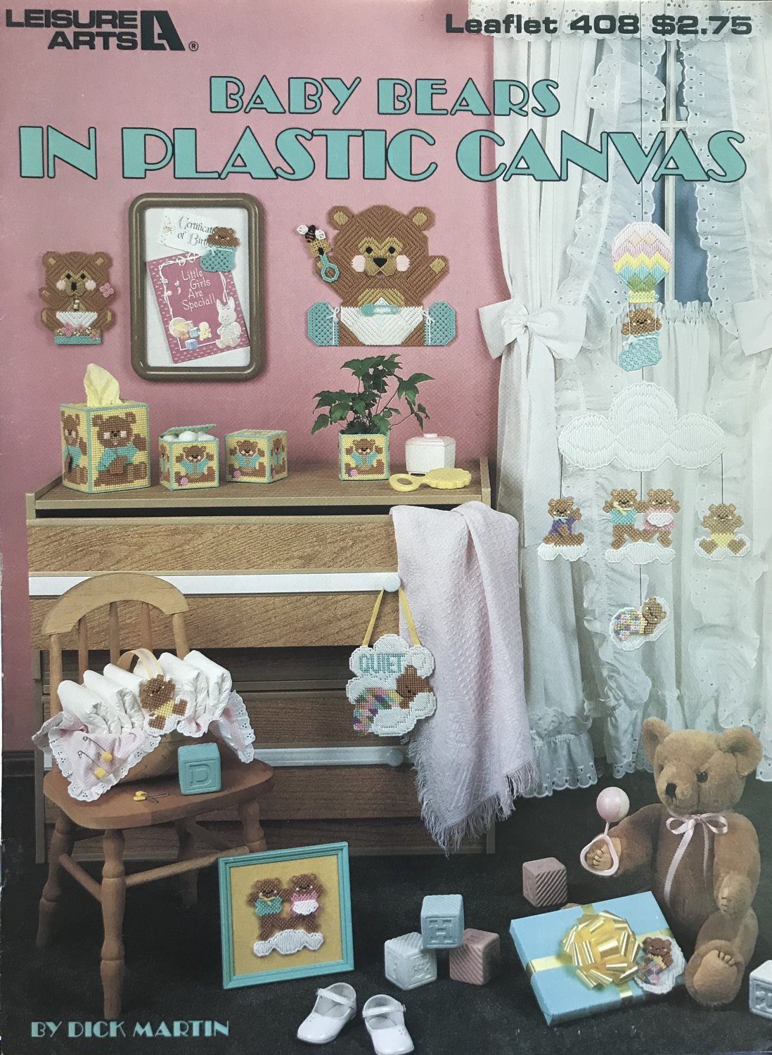Baby Bears in Plastic Canvas By Dick Martin Leisure Arts 408