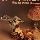 Plastic Canvas Sculptured Birds Blue Jay & Fruit Blossoms Annies Attic 87B35