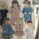 McCall's 3842 Toddler's Dress & Jumpsuit Sewing Pattern size 1