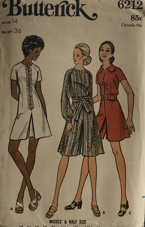 Butterick 6212 MISSES' PANTDRESS Culotte dress Sewing Pattern Size  14