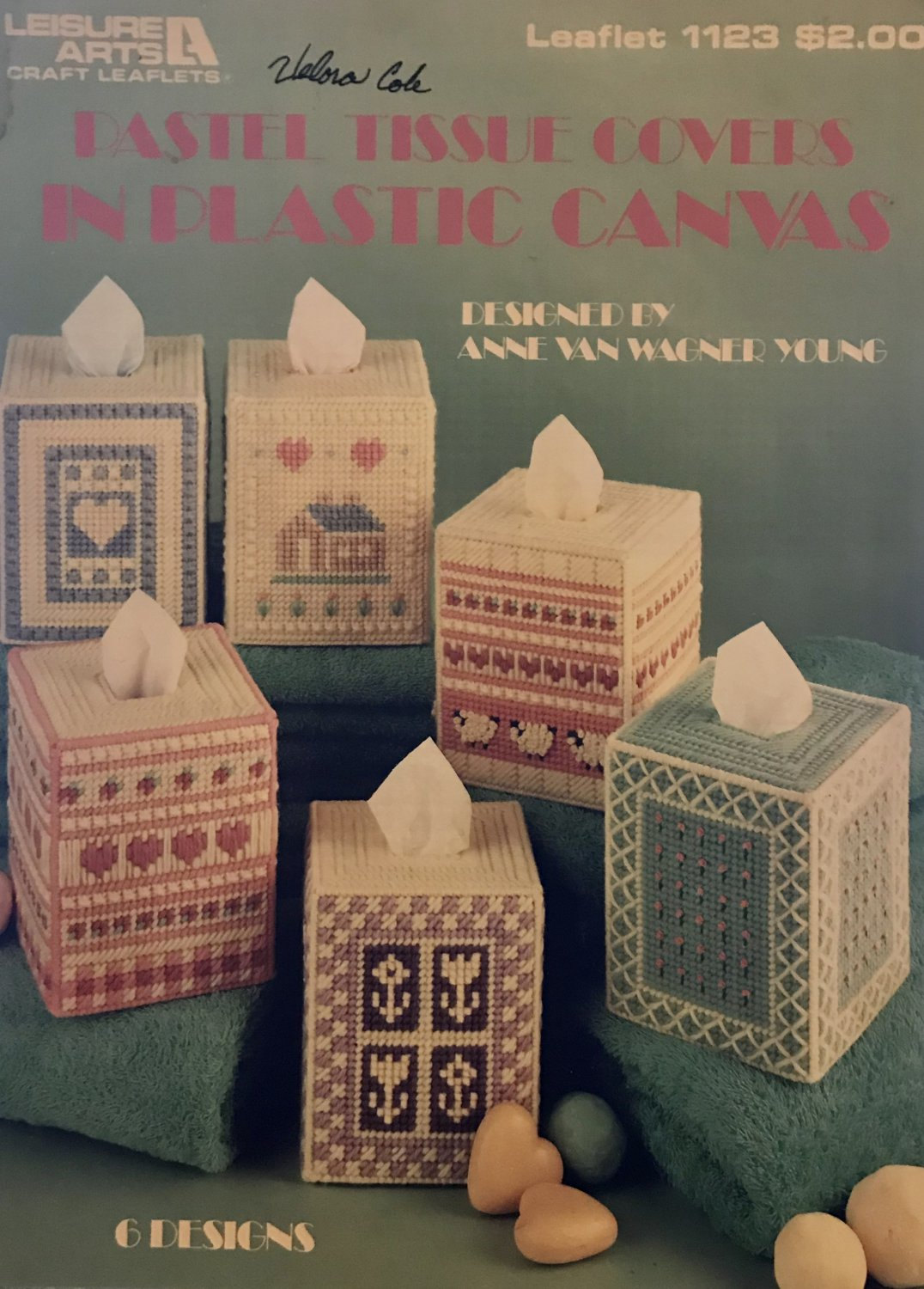 Pastel Tissue Covers in Plastic Canvas Leisure Arts Leaflet 1123