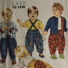 Simplicity 7529 Toddlers' Pants with Suspenders, Top & Lined Jacket: Sewing Pattern SZ 1/2 to 4