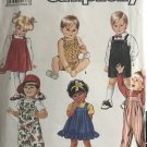 Simplicity 7017 Child's Overalls, Sundress, Jumper and Bubble Suit Sewing Pattern size 1/2 to 3