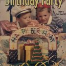 Birthday Party Centerpiece in Plastic Canvas House of White Birches 186001