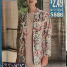 Butterick 5886 Misses' Jacket and Dress Sewing Pattern Size 12 14 16